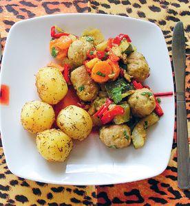 Klopsy w warzywach