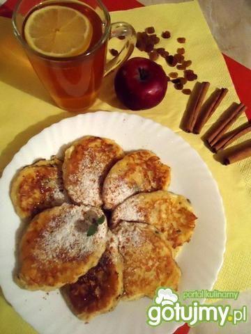 Przepis  cynamonowe placuszki z jabłkami przepis