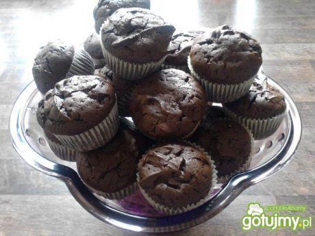 Przepis  muffiny a la brownies przepis