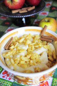 Kluseczki leniwe z prażonym jabłkiem z cynamonem ...