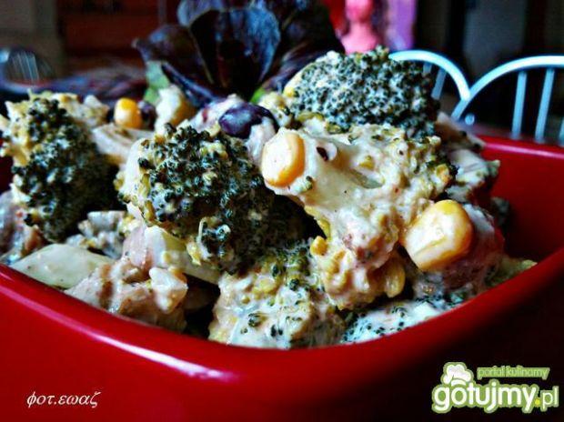 Przepis  sałatka z brokułem zewy przepis