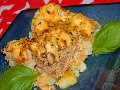 Zapiekanka z mięsem mielonym i kalafiorem