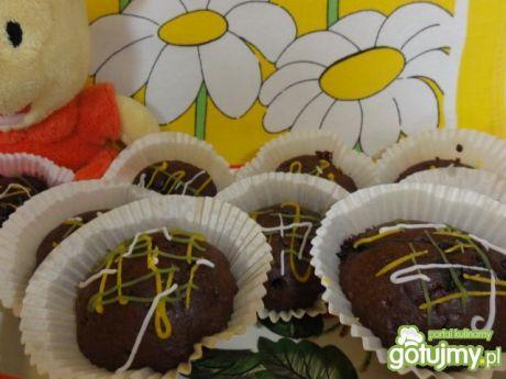 Przepis  kakaowe babeczki z jagodami przepis