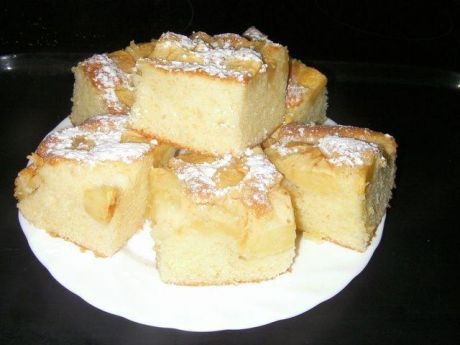 Przepis na smaczney na: szybkie ciasto z owocami