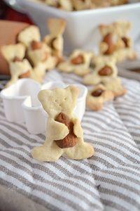 Ciasteczka misie z orzechami/rodzynkami