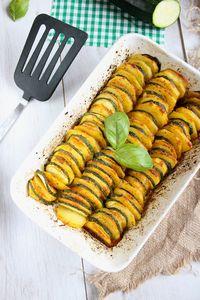 Zapiekanka z ziemniaków i cukinii