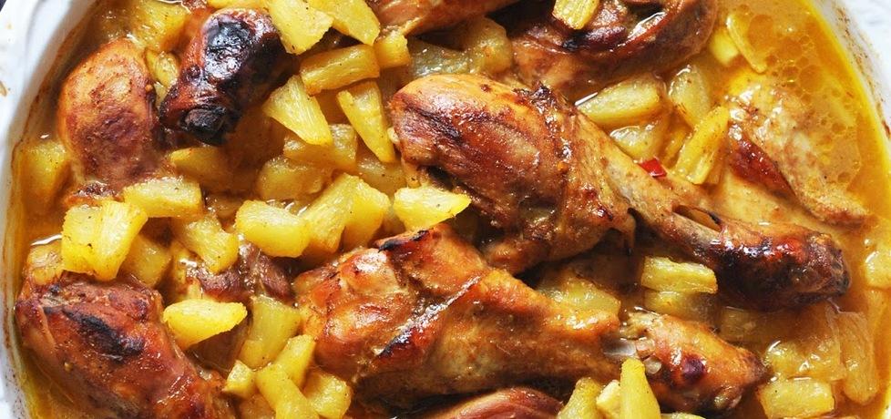 Udka z kurczaka pieczone z ananasem (autor: kardamonovy ...