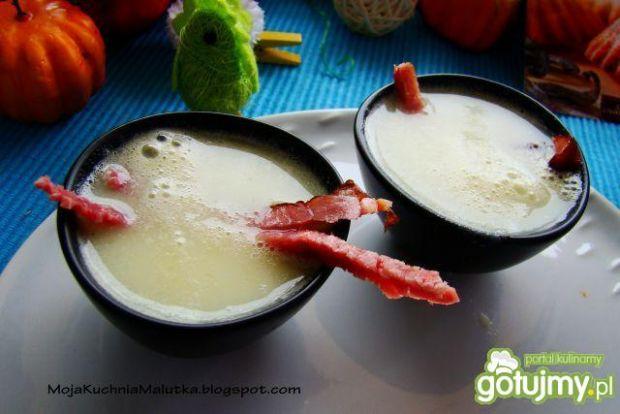 Przepis  kremowa zupa selerowa z bekonem przepis