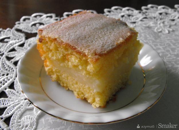 Ciasto cytrynowe z masą cytrynową