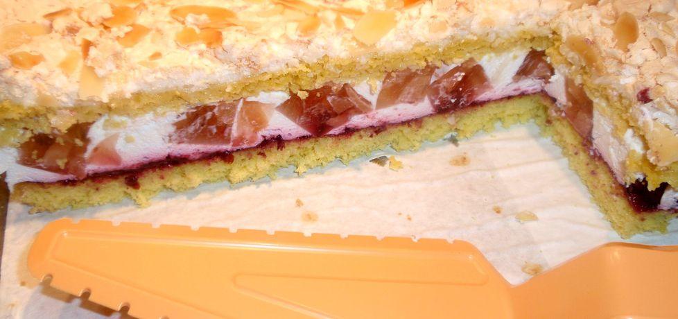 Ciasto z pigwą ,śmietaną i galaretką (autor: gosia56 ...
