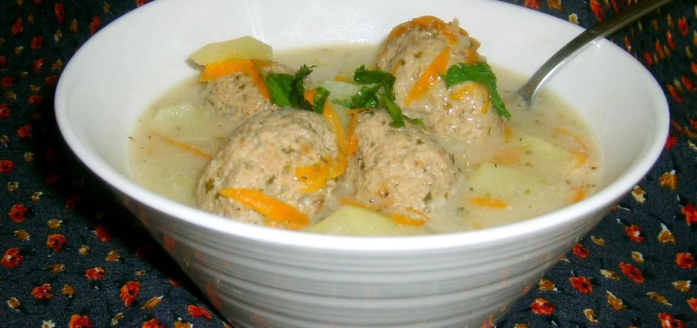 Zupa ziemniaczana z klopsikami z indyka... (autor: w-mojej