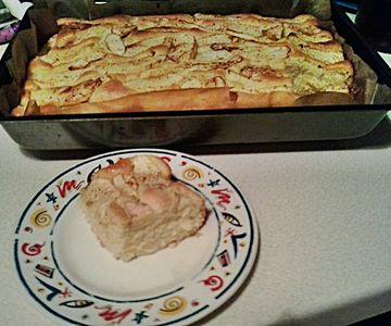 Proste ciasto ucierane z jabłkami