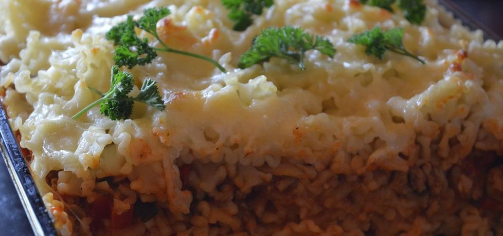 Zapiekanka makaronowa z mięsem i warzywami (autor ...
