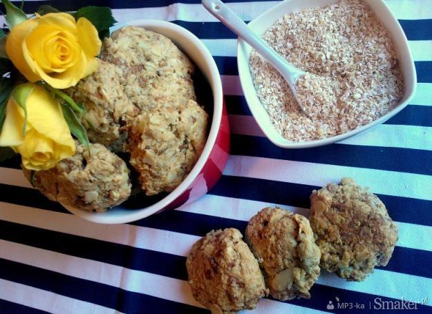Ciasteczka owsiane, orzechowo  migdałowe