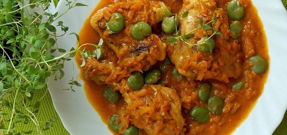 Kurczak w marchewce z bobem (autor: mniam)