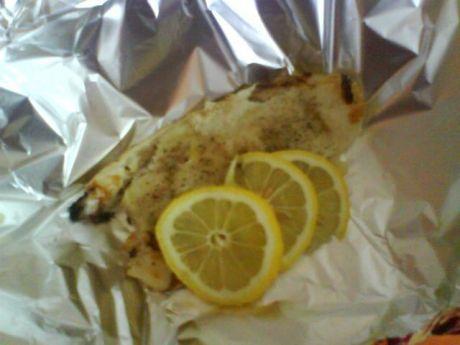 Przepis  filet rybny pieczony w folii przepis