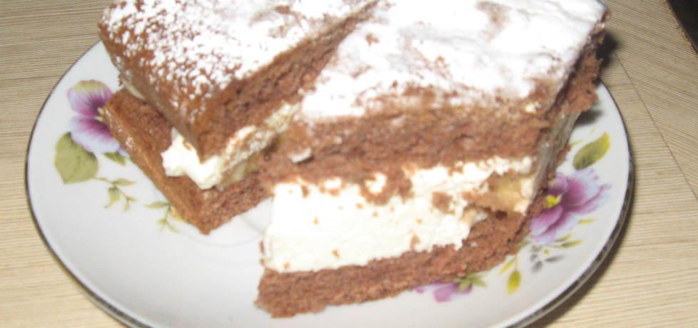 Ciasto biszkoptowe ze śmietaną i bananami (autor: marlenakinia ...