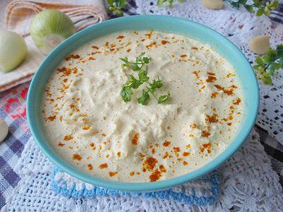 Sos curry z białą rzodkiewką