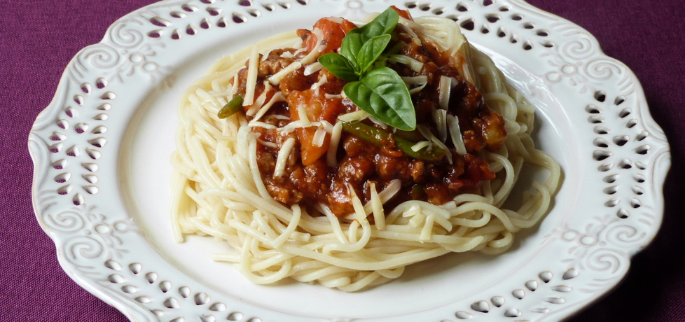 Spaghetti z mięsem i warzywami (autor: renatazet)