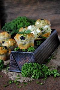 Jarmużowe wytrawne muffinki