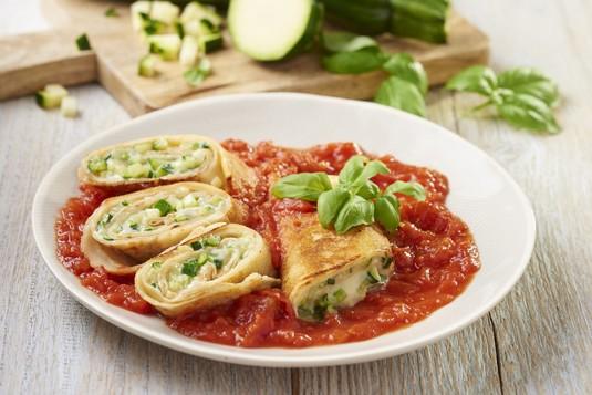 Crespelle, czyli zapiekane naleśniki z gorgonzolą i cukinią
