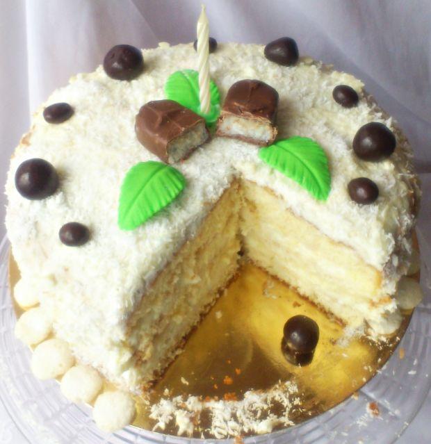 Przepis  tort kokosowy malibu wg di przepis