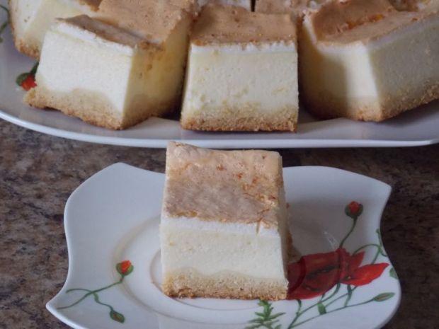 Sernik z pierzynką  ciasta, ciasteczka i desery