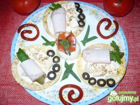 Przepis  wiosenne kanapeczki ryżowe przepis