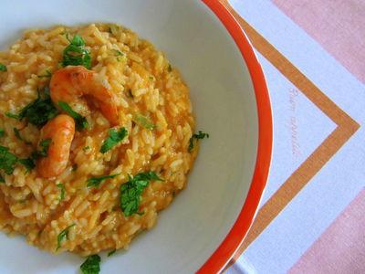 Risotto z kremem krewetkowym (risotto alla crema di ...