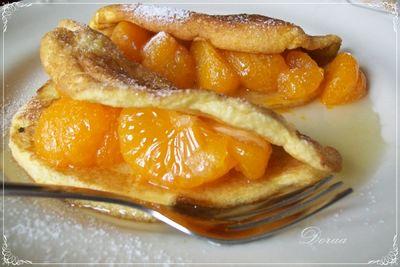 Bliny z mandarynkami