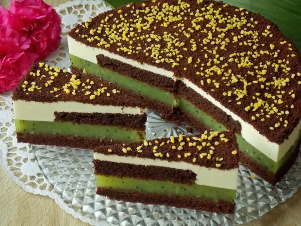 Przepis  czekoladowy torcik z kiwi przepis