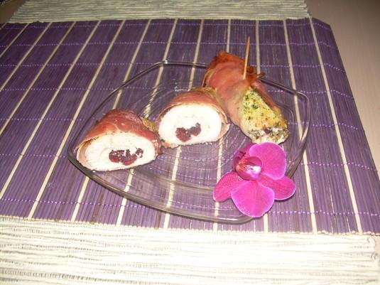 Wykwintne roladki z kurczaka z żurawiną i szynką parmeńską ...