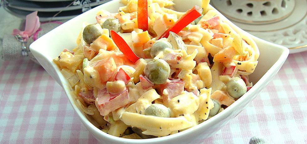 Sałatka z żółtego sera i papryki (autor: 2milutka)