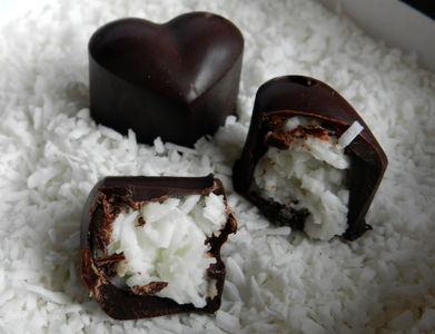 Domowe czekoladki a'la bounty z malibu