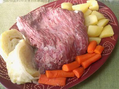 Wołowina gotowana z kapustą i ziemniakami ...