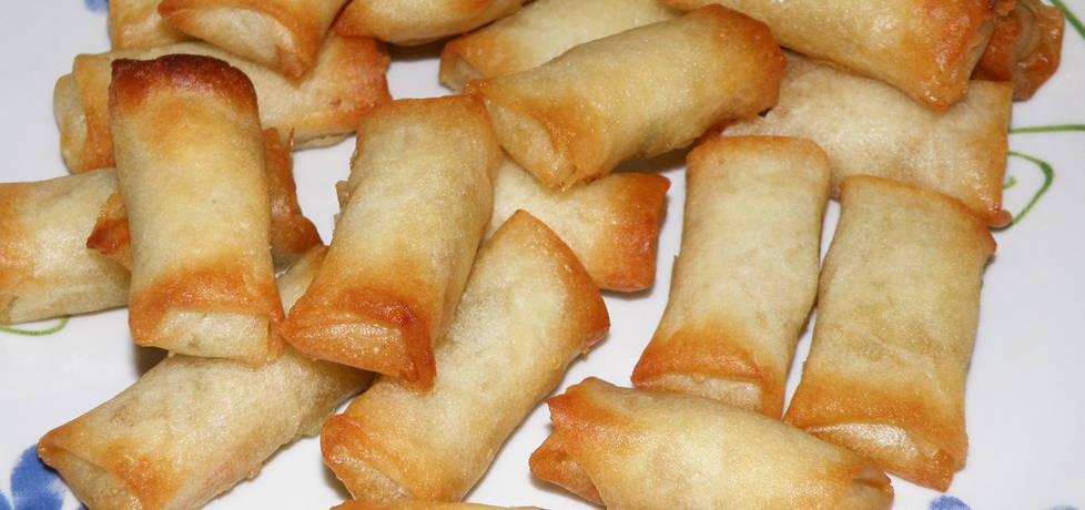 Sajgonki z kurczakiem, ryżem i warzywami (autor: habibi ...