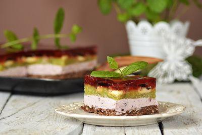 Ciasto owocowy resztek bez pieczenia