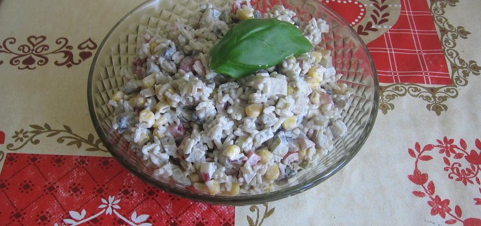 Sałatka z ryżem i pieczarkami (autor: ania321)