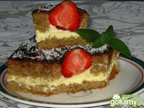 Przepis  ciasto kawowe z truskawkami przepis