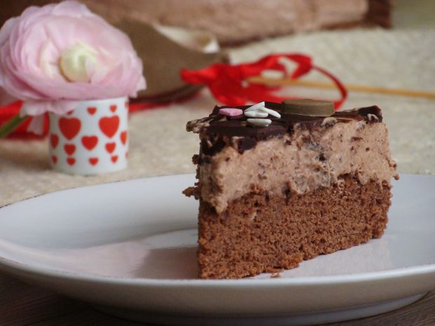 Przepis  mocno czekoladowe ciasto przepis