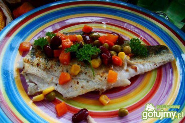Przepis  okoń morski w warzywach na maśle przepis