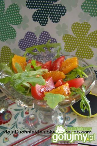 Przepis  sałatka z pomarańczy i pomidora przepis