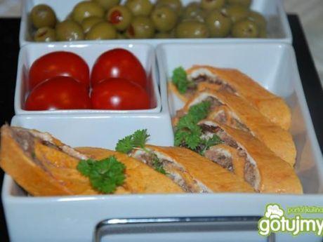 Przepis  rolowana tortilla z tuńczykiem przepis