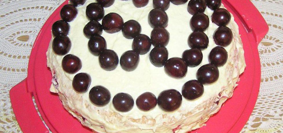 Tort wiśniowy na 60 urodziny (autor: magdalenamadija ...