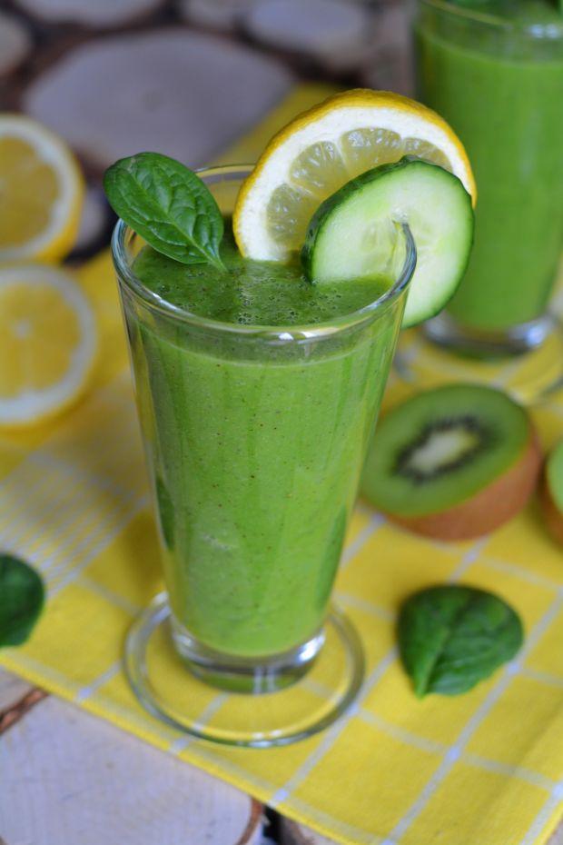 Przepis  zielony owocowo  warzywny koktajl przepis