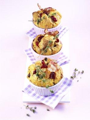 Muffinki z batatami i żurawinami  prosty przepis i składniki