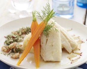 Filet z dorsza z marchewką i purée z ziemniaków aromatyzowanych ...