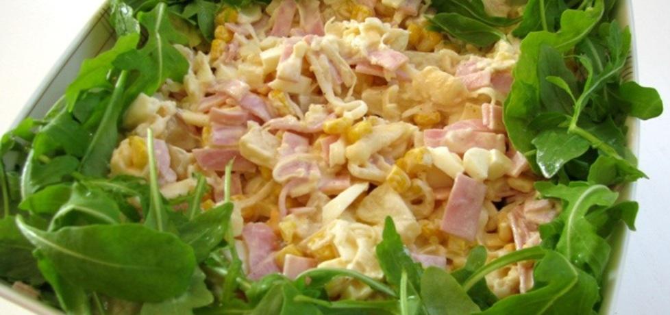 Sałatka z szynką i makaronem ryżowym (autor: panimisiowa ...
