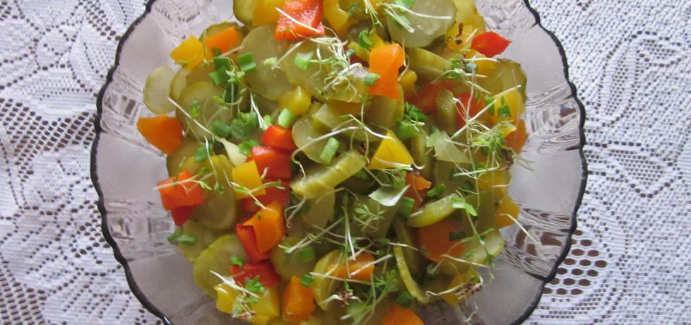 Sałatka z ogórków kiszonych (autor: halina17)
