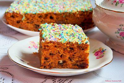 Ciasto marchewkowe z polewą karmelowo